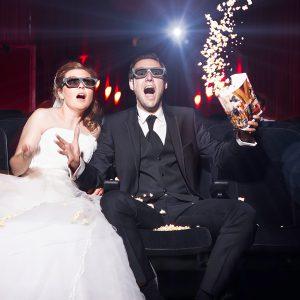 Brautpaar Fotoshooting im Kino Saarbrücken